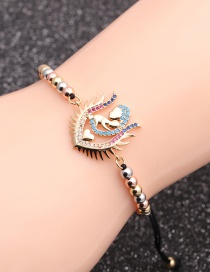 Fashion Mixed Color Chain Micro-inlaid Zircon Love Mother And Child Bracelet