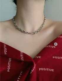 Fashion Silver Real Gold Plated Twist Thick Chain Necklace