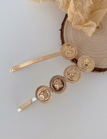 Fashion Suit Alloy Round Embossed Alloy Multilayer Hairpin