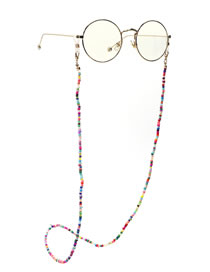 Fashion Color Handmade Chain Mixed Color Rice Bead Glasses Chain