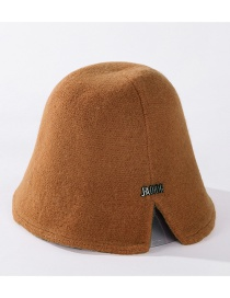 Fashion Caramel Forked Letter Embroidery Solid Color Fisherman Hat