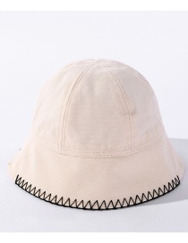 Fashion Beige Fisherman Hat With Solid Stitching