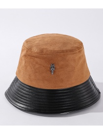 Fashion Caramel Stitched Arrow Hit Color Fisherman Hat