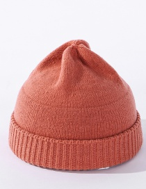 Fashion Orange Knitted Solid Color Stitching Landlord Hat