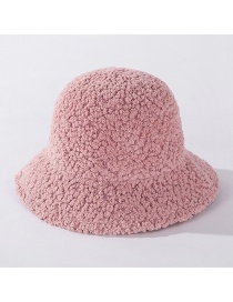 Fashion Korean Pink Wool Fleece Solid Color Knitted Fisherman Hat