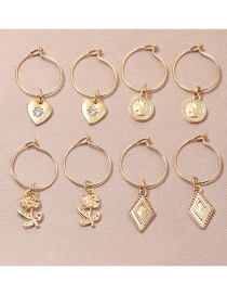 Fashion Gold Color Love Rose Alloy Geometric Earrings Set