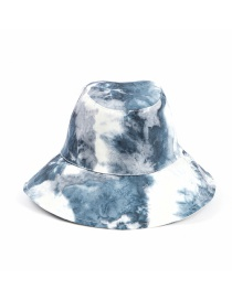 Fashion Navy White Painted Tie-dye Shade Fisherman Hat