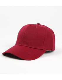 Fashion Red Wine Light Board Solid Color Curved Brim Sunshade Cap