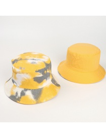 Fashion Yellow And Gray Tie-dye-double-sided Wear Tie-dye Double-sided Fisherman Hat