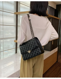 Fashion Red Wine Embroidery Chain Diamond Shoulder Messenger Bag