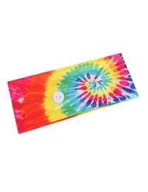 Fashion Color Mixing Tie-dyed Spiral Cotton Button Anti-stroke Hair Band