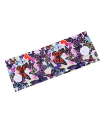 Fashion Colorful Butterfly Butterfly Stretch Headband With Printed Buttons