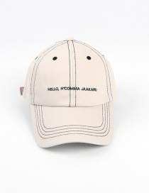 Fashion Off-white Line Letter Embroidery Cap