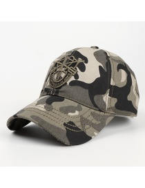 Fashion Camouflage Camouflage Letter Embroidery Soft Top Climbing Hat