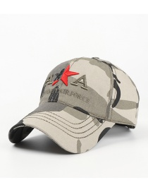 Fashion Camouflage Camouflage Cotton Five-pointed Star Soft Top Baseball Cap