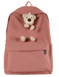 Fashion Pink Doll Bear Oxford Backpack