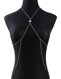 Fashion Golden Thread Cross Hollow Alloy Body Chain