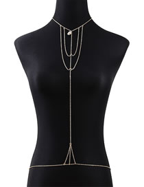 Fashion Golden Shell Chain Hollow Alloy Body Chain