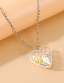 Fashion Yellow Shell Resin Love Alloy Sweater Chain