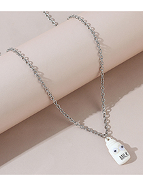 Fashion White Little Doll Resin Alloy Necklace