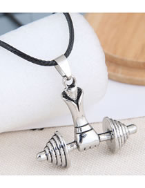 Fashion Silver Color Lift Dumbbell Alloy Necklace