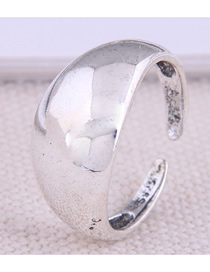 Fashion Silver Glossy Geometric Alloy Open Ring