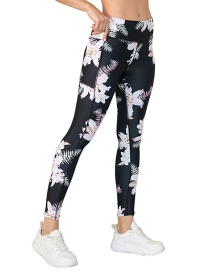 Fashion Pants Cross-print Yoga Wear With Pocket Leggings Bra Sports Suit