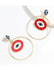 Fashion Red Ring Alloy Dripping Eye Earrings