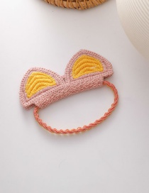 Fashion Wool Animal Ears Hit Color Stretch Knitted Hair Rope