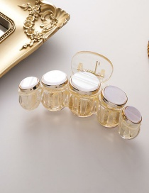 Fashion Resin Round Plate Transparent Imitation Shell Color Gripper