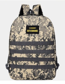 Fashion Armygreen Camouflage Printed Letter Logo Nylon Backpack
