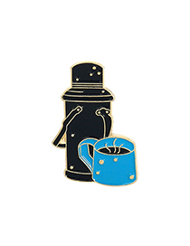 Fashion Kettle Telescope Mountain Hot Water Bottle Clothes Brooch