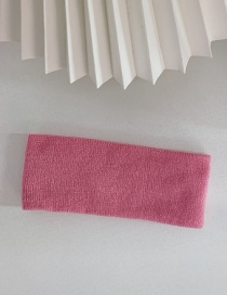 Fashion Pink Stretch Knit Solid Color Wide Side Sports Headband