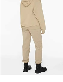 Fashion Khaki Loose Tie Solid Color Trousers
