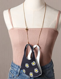 Fashion Shell Gold Soft Ceramic Rice Bead Butterfly Metal Chain Lobster Clasp Glasses Chain