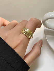 Fashion Gold Color Metal Geometric Line Ring