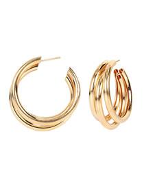 Fashion Golden Alloy Plating Geometric Earrings