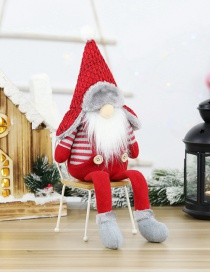 Fashion Pointed Leifeng Hat Long Legs Faceless Doll Christmas Long-legged Sitting Faceless Doll Gift Decoration