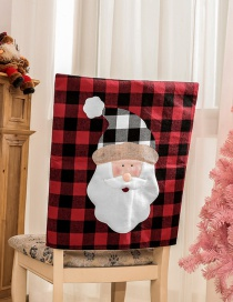 Fashion Old Man Chair Cover Christmas Plaid Old Man Snowman Chair Cover
