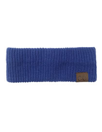 Fashion Baolan Letter Mark Knitted Wool Elastic Headband