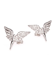 Fashion Silver Earrings Micro-encrusted Diamond Angel Wings Gold-plated Necklace Earrings Ring