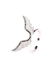 Fashion Silver Ring Diamond Angel Wing Necklace Ring Earrings