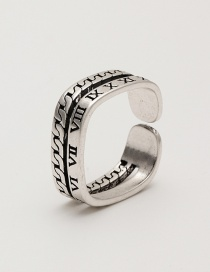 Fashion Chain Adjustable Alloy Ring With Winding Hollow Opening