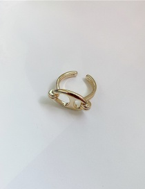 Fashion Golden Pig Nose Alloy Hollow Open Ring