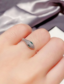 Fashion Platinum Plated Snake-shaped Real Gold-plated Open Adjustable Ring