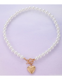 Fashion Necklace One Word Open Love Pearl Necklace