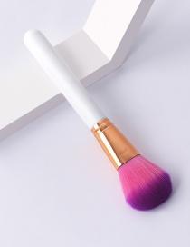 Fashion Single-platinum-pressure Tube-loose Powder Color Makeup Brush With Wooden Handle And Aluminum Tube Nylon Hair