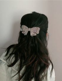Fashion Gun Black Full Diamond Butterfly Combined With Blonde Clip