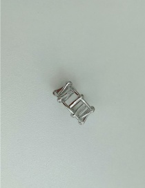 Fashion Silver Color About 5g Metal Braided Open Open Ring
