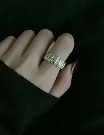 Fashion Gold Color Color (us Code 6) Wide Face Irregular Tire Art Ring